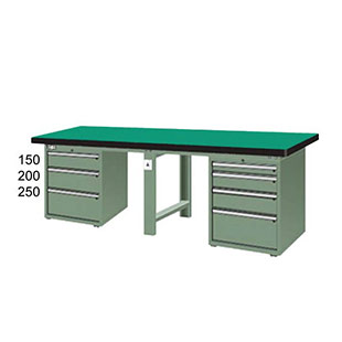 Green impact resistant work table