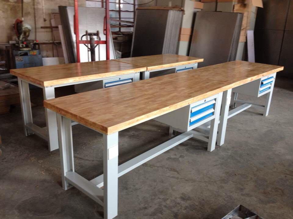 实木面钳工桌